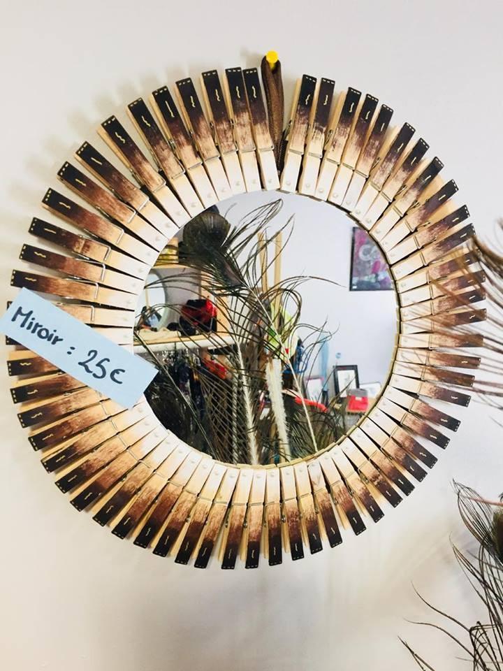 Miroir pinces à linge
