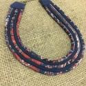 collier tissu ethnique